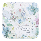 Legacy Publishing Group, And Even So It Is Well With My Soul Floral Coaster, 3 3/4 inches