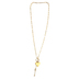 His Truly, Heart and Arrow Necklace, Zinc Alloy, Brushed Gold, 18 Inch Chain