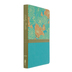 NIV Thinline Bible, Large Print, Duo-Tone, Turquoise with Flower Design