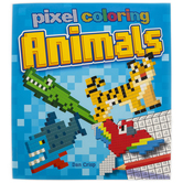 Pixel Coloring: Animals Activity Book, Paperback, 96 Pages, Ages 5-10