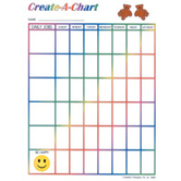 Creative Changes, Create-A-Chart Reusable Chart, 8.5 x 11 Inches, Multi-Colored, 1 Piece