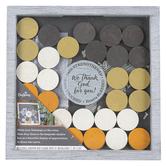 Dayspring, We Thank God For You Shadow  Box, Grey/White, 10 x 10 Inches