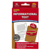 Edupress, Informational Text Reading Comprehension Practice Cards-Red Level, 54 Cards, Reading Level 2.0-3.5