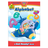 School Zone, Alphabet Super Deluxe Preschool Workbook, Paperback, 96 Pages, Ages 4-6