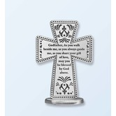 Abbey and CA Gift, Godfather Standing Cross, 3 inches