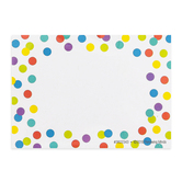 Lotsa Dots Collection, Self-Adhesive Labels, Colorful Polka Dots on White, 3.5 x 2.5 Inches, Pack of   36