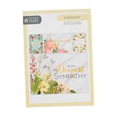 ThreeRoses, Elegant Floral Art Sympathy Cards, 12 count
