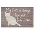 P. Graham Dunn, My Cats In Charge We Just Live Here Tabletop Plaque, Wood, 5 x 3 1/4 inches