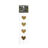 the Paper Studio, Heart Envelope Seals, Gold, 1 1/8 inches Each, 24 Stickers