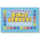 North Star Teacher Resources,  I Memorized My Bible Verses! Punch Cards, Pack of 36