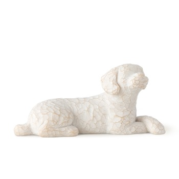 Willow Tree, Love My Dog Resting Dog Figurine, Resin, 1 1/4 inches