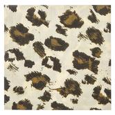 Brother Sister Design Studio, Leopard Print Large Napkins, Brown, 6 1/2 x 6 1/2 inches, 50 Napkins