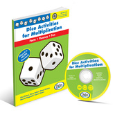 Didax, Dice Activities for Multiplication, 110 Pages, Grades 3-6