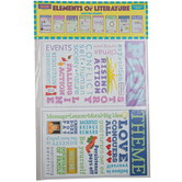 McDonald Publishing, Elements of Literature Chatter Charts, 11 x 17 Inches, 8 Pieces