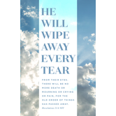 Salt & Light, Revelation 21:4 He Will Wipe Away Church Bulletins, 8 1/2 x 11 inches Flat, 100 Count