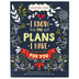 Christian Art Gifts, I Know The Plans I Have For You Adult Coloring Book, 11 x 8 1/2 inches, 128 pages