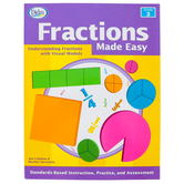 Didax, Fractions Made Easy: Understanding Fractions with Visual Models, 144 Pages, Grade 3
