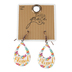 Bella Grace, Blessed Tear Drop Shaped Dangle Earrings, Zinc Alloy, Floral Design