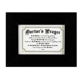 Dickson's Gifts, Doctor's Prayer Photo Frame, Black, 4 x 6 Inches