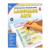 Carson-Dellosa, Interactive Notebooks Language Arts Resource Book, Reproducible Paperback, Grade 6