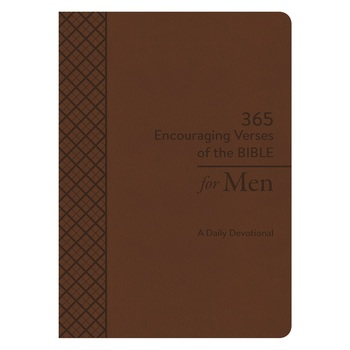 365 Encouraging Verses of the Bible for Men: A Daily Devotional, by Barbour, Duo-Tone, Brown
