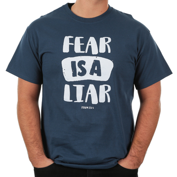 Red Letter 9, Fear Is A Liar, Men's Short Sleeve T-Shirt, Blue Dusk, S-3XL