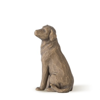 Willow Tree, Love My Dog Figurine (Dark), by Susan Lordi, Resin, 3 1/4 inches