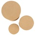 Paper Mache Tall Round Box, Set of 3 with Removable Lids, Small 3, 4, and 5 x 5-Inches