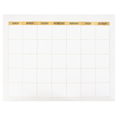 Glimmer of Gold Collection, Calendar Chart, Customizable, Multi-Colored, 22 x 28 Inches, 1 Each