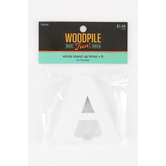 Woodpile Fun, Stand Alone Wood Letter - A, 3 inches, White