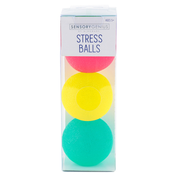 Mindware, Sensory Genius Stress Balls, Assorted Colors, 3 Pieces, Ages 5 and up