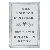 Open Roads Brands, Heart and Heaven Metal Wall Decor, White and Grey, 6 x 9 x 0.12 Inches