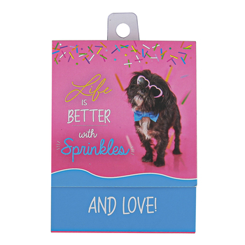 Universal Designs, Life Is Better With Sprinkles & Love Dog Notepad, 3 x 3 3/4 inches, 75 Sheets