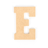 Woodpile Fun, MDF Natural Wood Color Letter - E, 5 inches, Brown