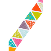 Renewing Minds, Wide Border Trim, 38 Feet, Pastel Patterned Triangles