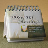 DaySpring, Promises and Blessings Perpetual Calendar, Paper, 5-1/2 x 5-1/4 x 1-1/4 inches