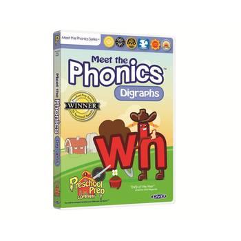 Preschool Prep Company, Meet the Phonics: Digraphs DVD, 65 Minutes, Grades PreK-1