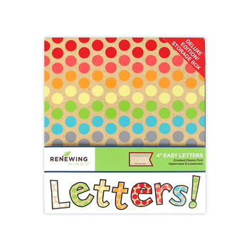 TooCute Collection, Crooked Classic Bulletin Board Letters, Upper and Lowercase, 4 Inches, Assorted Colors, 216 Pieces