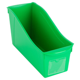 Storex, Large Book Bin, Green, 14.30 x 5.30 x 7 Inches, 1 Piece