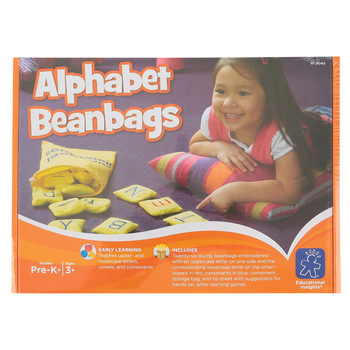 Educational Insights, Alphabet Beanbags, 26 Pieces, Grades Pre-K through K