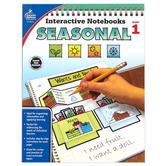 Carson-Dellosa, Interactive Notebooks: Seasonal Resource Book, Paperback, Reproducible, 96 Pages, Grade 1