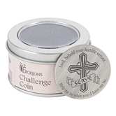 Dicksons, Serve Challenge Coin, Zinc Alloy, Silver-tone, 1 x 1 inch