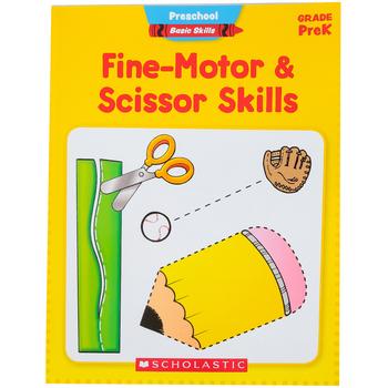 Scholastic, Preschool Basic Skills Fine-Motor and Scissor Skills Workbook, 48 Pages, Grades PreK