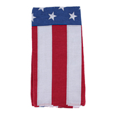 American Flag Bandanas, Cotton, Red/White/Blue, 22 x 22 inches, Set of 3