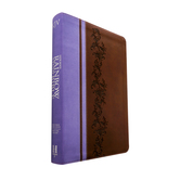 KJV Rainbow Study Bible, Duo-Tone, Brown and Lavender
