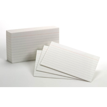 Ruled White Index Card 3X5