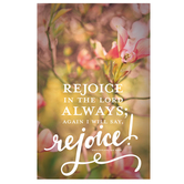 Salt & Light, Rejoice In The Lord Always Church Bulletins, 8 1/2 x 11 inches Flat, 100 Count