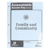 BJU Press, Heritage Studies 1 Assessments Answer Key, 4th Edition, Grade 1