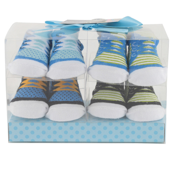 Brother Sister Design Studio, Sock Gift Set for Baby Boy, 4 Pairs, 0-6 Months