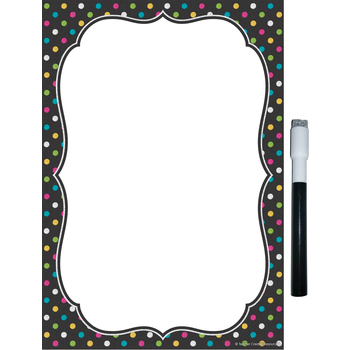 Teacher Created Resources, Clingy Thingies Chalkboard Brights Small Wipe-Off Note Sheet, Reusable, 7 x 10 Inches